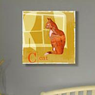 Animal Friends Cat Outdoor Canvas Print