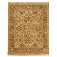 Anjana Sage Green/gold Brown Hand Knotted Wool Rug