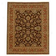 Anjana Tobacco/rust Hand Knotted Wool Rug