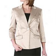 Anne Klein Cream Silk Blazer