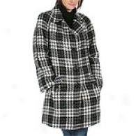 Anne Klein Novelty Plaid Coat
