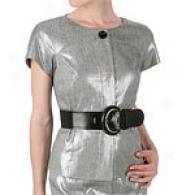 Anne Klein Ny Silver Metallic Linen Jacket