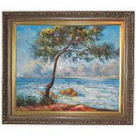 Antibes Framed Oil Painting On Canvas By Monet