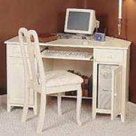 Antique White Corner Dssk & Chair - Open Stock