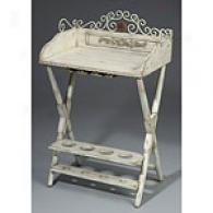 Antique White Wine Caddy & Table