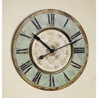 Aqua Wooden Wall Clock