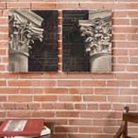 Architectural Design Set Of Two 16x20 Canvas Print
