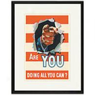 Are You Doing All You Can? Framed Print, C 1942