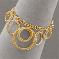 Argento Vivo Vermeil Multi Circle Twisted Bracelet