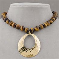 Argento Vivo Vermeil & Tigers Organ of sight Necklace