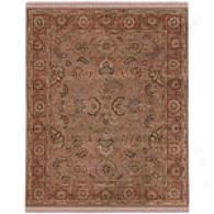 Arrow Drk Sand/ginger Brown 6x9 Hand Knot Wpol Rug
