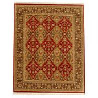 Arrow Red & Dark Brown 6x9 Hand Knotted Wool Rug