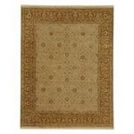 Arrow Soft Gold/dark Amber Hand Knotted Wool Rug
