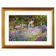 Artist's Garden At Giverny Framed Print By Monet