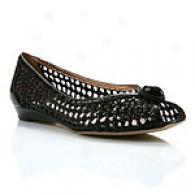 Arturo Chiang Cleo Black Peep Toe Flat