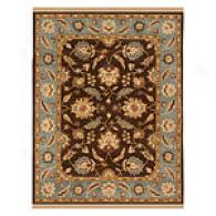 Asif Cocoa Brown Stone Blue Hannd Tufted Wool Rug
