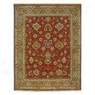 Asif Rust Dark Amber Gold Hand Tufted Wool Rug