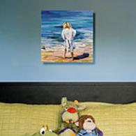 At The Seashore 16in X 16in Outdoor Canvas Prnit