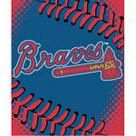 Atlanta Braves 60in X 80in Baseball Throw