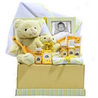 Baby Burt's Bees Bear Gift Set Basket
