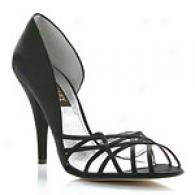 Badgley Mischka Celine Black Strappy Pump