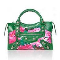 Bzlenciaga Giant City Floral Leather Bag