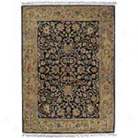 Bali Black Traditional Handd-tifted Wool Rug