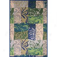 Bali Collection Blue Floral Rug