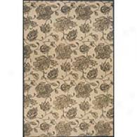 Bali Collection Charcoal Floral Rug