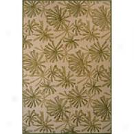 Bali Collection Green Floral Rug