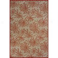 Bali Collection Rust Floral Rug