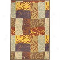 Bali Collection Violet Floral Rug