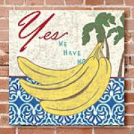 Bananas 16x16 Outdoor Canvas Print
