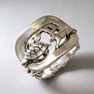 Barry Kieselstein-cord Silver Fable Ring