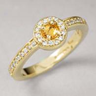 Barry Kronen 0.69 Cttw. Sapphire & Diamond Ring