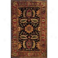 Bashaw Black 8x11 Wool Rug