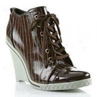 Bcbgirls Elton High Wedge Patent Sneaker