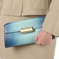 Bcbgmaxazria Ombre Leather Clutch