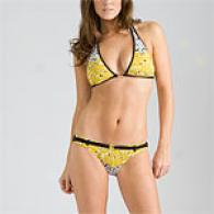 Bcbgmaxazria Sunflower Bikini Swimsuit