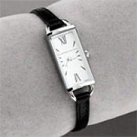 Bcbgmaxazria Womens Slim Leather Watch