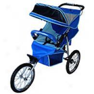 Bebelove 2006 Evo-s Blue Single Jogging Stroller