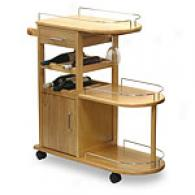 Beechwood Entertainment Cart