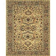 Beige And Mushroom Hand Tufted Wool Rug