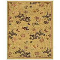 Beige Dragon Rug