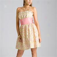 Betsey Johnson Daisy Embroidered Cream Party Dress