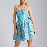 Betsey JohnsonD aisy Embroidered Sky Party Dress