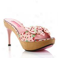Betsey Johnson Dax Strawberry Rose Print Sandal