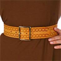Betsey Johnson Etched Tan Leather Girdle