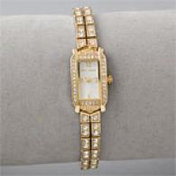 Betsey Johnson Goldtone Crystal Dress Watch