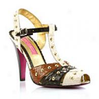 Betsey Johnson Nicosia Multicolor T-strap Sandal